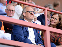 KORTRIJK , BELGIUM - AUGUST 03 : Joseph Allijns - Chairman of Kortrijk pictured in the stands during the Jupiler Pro League match day 2 between Kv Kortrijk and Sporting Charleroi on August 03 , 2019 in Kortrijk , Belgium . ( Photo by David Catry / Isosport )