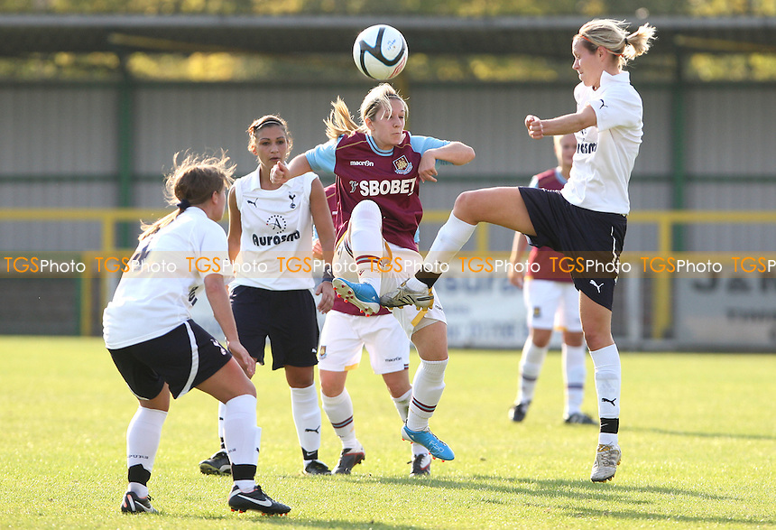 Carly Roache of West Ham in action - West Ham United Ladies vs Tottenham Hotspur Ladies,  Womens Premier League Southern Division at Thurrock FC, Thurrock - 23/10/11 - MANDATORY CREDIT: Rob Newell/TGSPHOTO - Self billing applies where appropriate - 0845 094 6026 - contact@tgsphoto.co.uk - NO UNPAID USE.