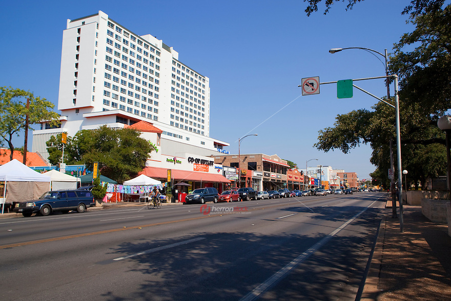 """The Drag,"" on Guadalupe, UT campus, is a hip shopping enclave of clothing, furniture and gift shops"