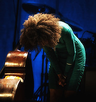 Esperanza Spalding performing at The Orpheum Theater, Boston Massachusetts,