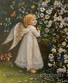 CHILDREN, KINDER, NIÑOS, paintings+++++,USLGSK0109,#K#, EVERYDAY ,Sandra Kock, victorian ,angels