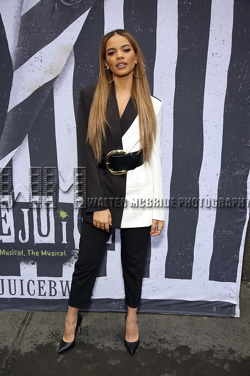 """Leslie Grace attends the Broadway Opening Night Performance for """"Beetlejuice"""" at The Wintergarden on April 25, 2019  in New York City."""