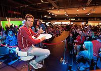 13-02-13, Tennis, Rotterdam, ABNAMROWTT, Juan Martin Del Potro Signeersessie