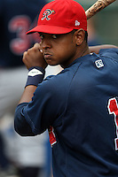 July 20th 2008:  Enrique Cruz of the Richmond Braves, Class-AAA affiliate of the Atlanta Braves, during a game at Dunn Tire Park in Buffalo, NY.  Photo by:  Mike Janes/Four Seam Images