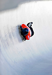 17 December 2010: John Daly sliding for the USA, finishes in 10th place at the Viessmann FIBT Skeleton World Cup Championships in Lake Placid, New York, USA. Mandatory Credit: Ed Wolfstein Photo