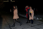 Marian Robinson, First Lady Michelle Obama and daughter Malia walk from Marine One to enter the White House after a trip to Selma, Alabama on March 7, 2015. <br /> Credit: Dennis Brack / Pool via CNP