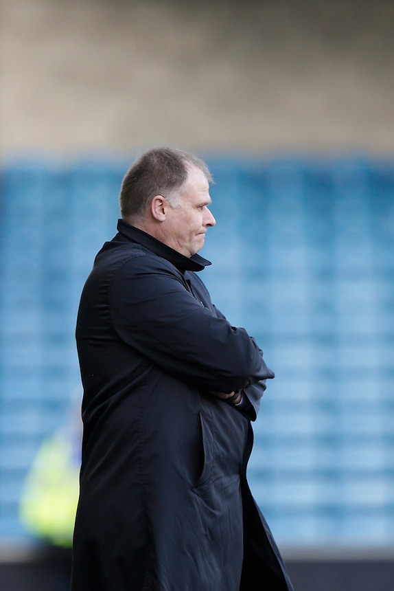 Blackpool manager Neil McDonald looks on during the game<br /> <br /> Photographer Craig Mercer/CameraSport<br /> <br /> Football - The Football League Sky Bet League One - Millwall v Blackpool - Saturday 5th March 2016 - The Den - Millwall<br /> <br /> &copy; CameraSport - 43 Linden Ave. Countesthorpe. Leicester. England. LE8 5PG - Tel: +44 (0) 116 277 4147 - admin@camerasport.com - www.camerasport.com