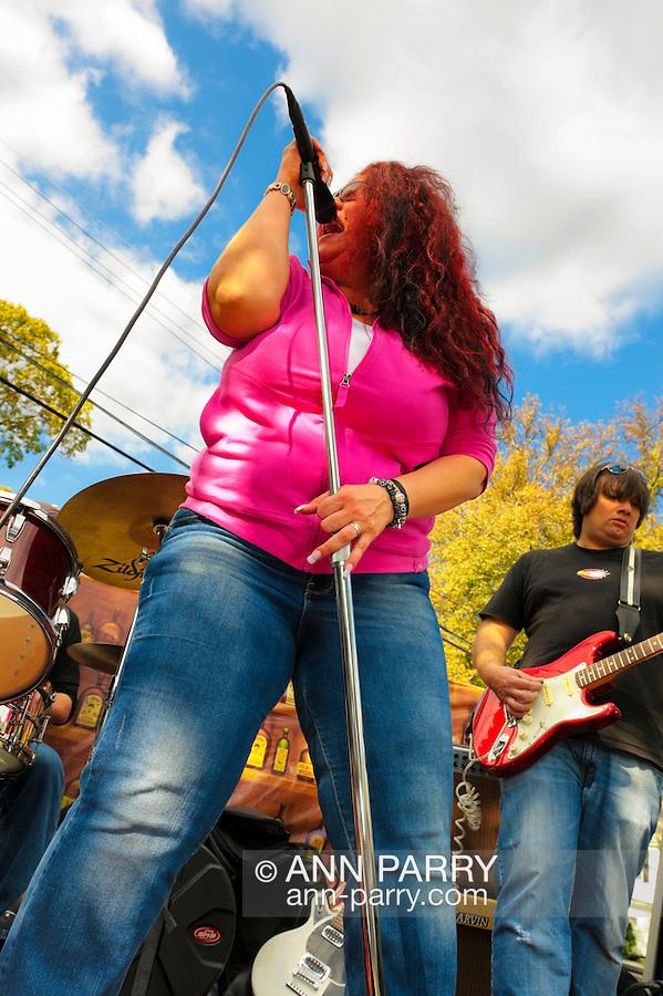 "Blues Singer Sweet Suzi Smith of ""Sweet Suzi & Sugafixx"" and guitarist John Puglisi, performing at Merrick Street Fair in Merrick, New York, USA, on October 22-23, 2011"