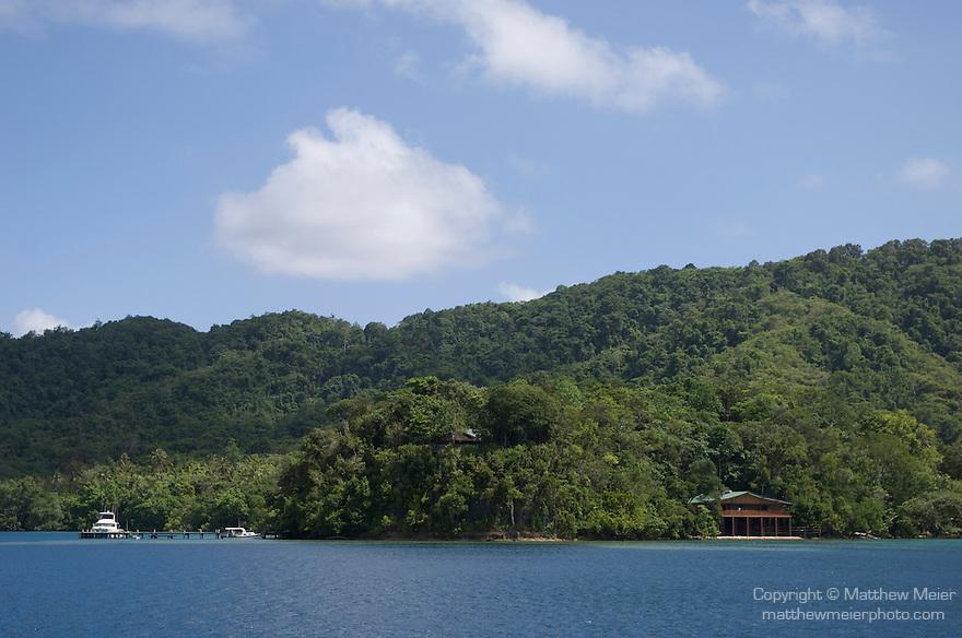 Milne Bay, Papua New Guinea; Tawali Resort, viewed from Milne Bay , Copyright © Matthew Meier, matthewmeierphoto.com