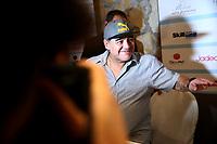 Diego Armando Maradona<br /> Napoli 04-07-2017  Napoli Villa D'Angelo Santa Caterina<br /> conferenza stampa di presentazione dell'evento Effetto Maradona, per il conferimento della cittadinanza onoraria di Napoli <br /> Press conference of the event Maradona Effect, for the conferral of honorary citizenship of Naples to the former player <br /> <br /> Foto Cesare Purini / Insidefoto