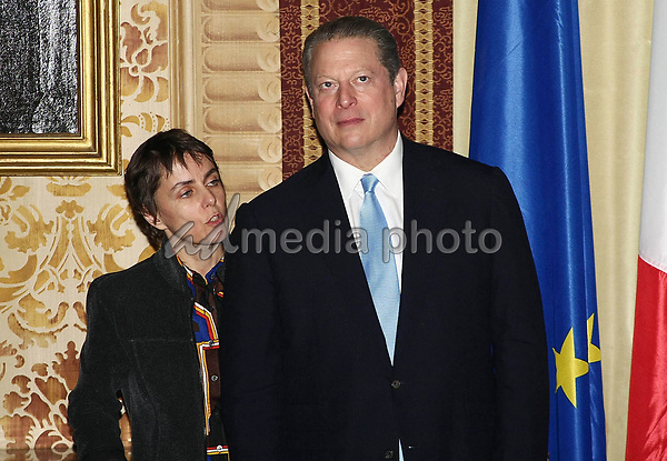 10 December 2008 - Milan, Italy - Al Gore. Al Gore receives the Honorary Citizenship from City Mayor Letizia Moratti. Photo Credit: Antonio Sorano/Liverani/AdMedia
