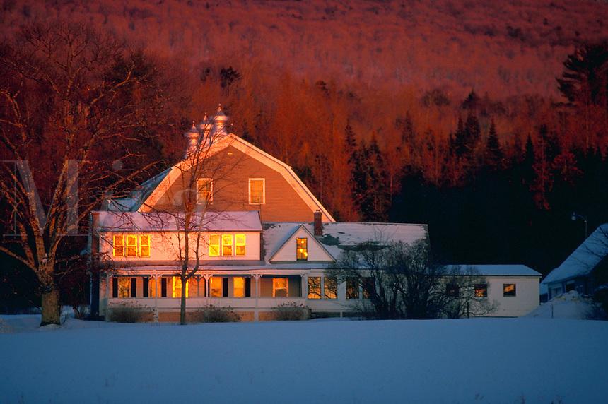 Farmhouse - winter scene.
