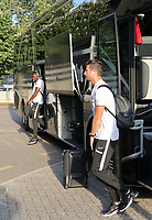 Danny da Costa (Eintracht Frankfurt), David Abraham (Eintracht Frankfurt) - 22.08.2019: Racing Straßburg vs. Eintracht Frankfurt, UEFA Europa League, Qualifikation, Commerzbank Arena<br /> DISCLAIMER: DFL regulations prohibit any use of photographs as image sequences and/or quasi-video.