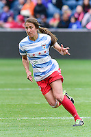 Bridgeview, IL - May 9, 2015: The Chicago Red Stars defeated the Boston Breakers by the score of 3-0 in a NWSL match at Toyota Park.