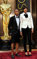 HOLLYWOOD, CA - MARCH 2: Pharrell Williams, Helen Lasichanh arriving to the 2014 Oscars at the Hollywood and Highland Center in Hollywood, California. March 2, 2014. Credit: SP1/Starlitepics. /NORTePHOTO