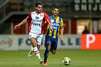 EMMEN - Voetbal, FC Emmen - FC Oss, Jens Vesting, Jupiler League, seizoen 2017-2018, 27-10-2017,  FC Emmen speler Kezaih Veendorp