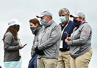 22nd July 2020; Blaine, Minnesota, USA;  Volunteers wearing masks look on during the 3M Open Compass Challenge at TPC Twin Cities in Blaine, Minnesota