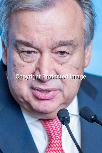 SG Antonio Guterres first press conference at UN