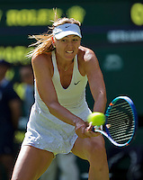 England, London, June 29, 2015, Tennis, Wimbledon, Maria Sharapova (RUS)<br /> Photo: Tennisimages/Henk Koster