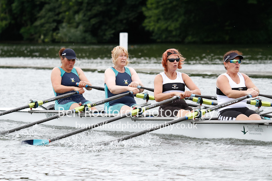 W.MasD.4x- QF -  Berks: 196 City of Swansea RC -  Bucks: 197 Falcon RC<br /> <br /> Friday - Henley Masters Regatta 2016<br /> <br /> To purchase this photo, or to see pricing information for Prints and Downloads, click the blue 'Add to Cart' button at the top-right of the page.