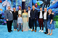 "LOS ANGELES, CA. February 09, 2019: Dean DeBlois, F. Murray Abraham, Gerard Butler, AJ Kane, America Ferrera, Jay Baruchel, Craig Ferguson, Christopher Mintz-Plasse, Brad Lewis & Bonnie Arnold at the premiere of ""How To Train Your Dragon: The Hidden World"" at the Regency Village Theatre.<br /> Picture: Paul Smith/Featureflash"