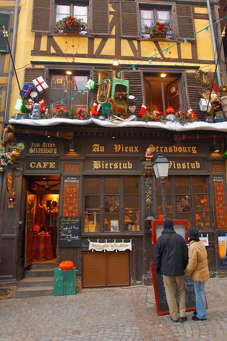 Strasburg - France - Christmas restaurant