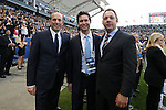 01 December 2012: MLS Commissioner Don Garber (left) with head of communications Dan Courtemanche (center) and MLS Executive Vice-President Todd Durbin (right). The Los Angeles Galaxy played the Houston Dynamo at the Home Depot Center in Carson, California in MLS Cup 2012. Los Angeles won the game 3-1.