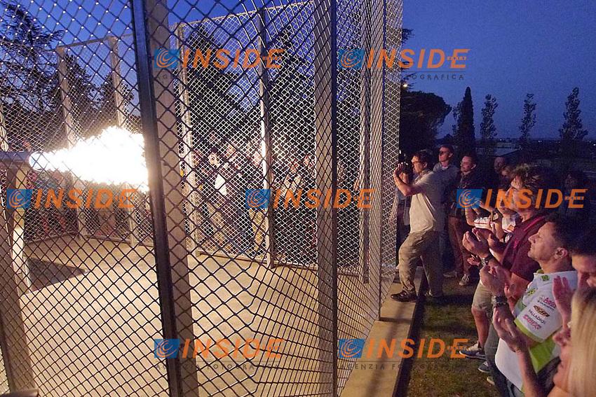 12-09-2013 Coriano (ITA)<br /> Motogp world championship<br /> Inaugurazione di un monumento / Installazione dedicata a Marco Simoncelli <br /> Foto Semedia Insidefoto