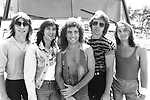 Journey 1981 Ross Valory, Steve Perry, Neal Schon, Jonathan Cain, Steve Smith.© Chris Walter.