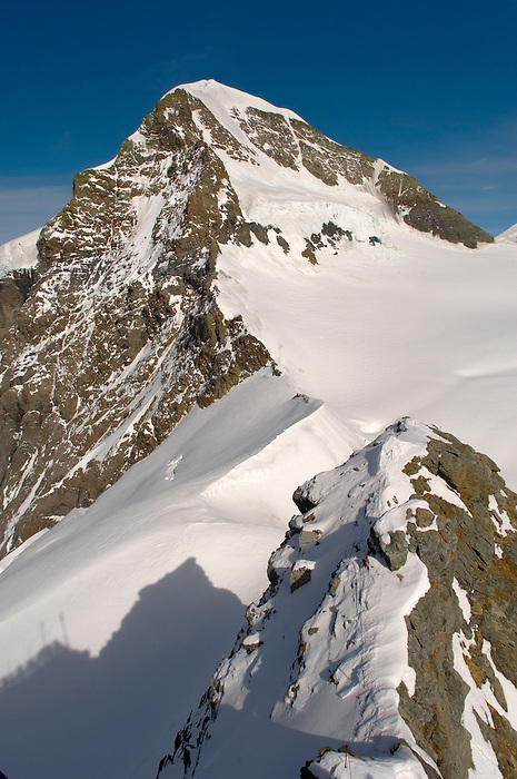 Eiger Summit in snow  - Bernese Oberland Alps - Switzerland