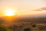 TANZANIA, a sunrise in Arusha National Camp, in the foothills of Kilimanjaro Mountain