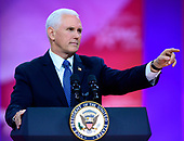 United States Vice President Mike Pence speaks at the Conservative Political Action Conference (CPAC) at the Gaylord National Resort and Convention Center in National Harbor, Maryland on Friday, March 1, 2019.<br /> Credit: Ron Sachs / CNP