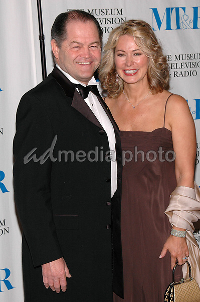 26 May 2005 - New York, New York - Micky Dolenz and his wife Donna arrive at The Museum of Television and Radio's Annual Gala where Merv Griffin is being honored for his award winning career in radio and television.<br />
