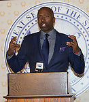 "Kenny ""The Jet"" Smith speaks at a press conference before the 48th Annual Nevada Athletics Governor's Dinner at the Governor's Mansion  in Carson City on  Friday, July 8, 2016."