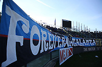 Striscione Tifosi Atalanta, banner fans, supporters<br /> Bergamo 26-12-2018  Stadio Atleti Azzurri d'Italia <br /> Football Campionato Serie A 2018/2019 <br /> Atalanta - Juventus<br /> Foto Cesare Purini / Insidefoto