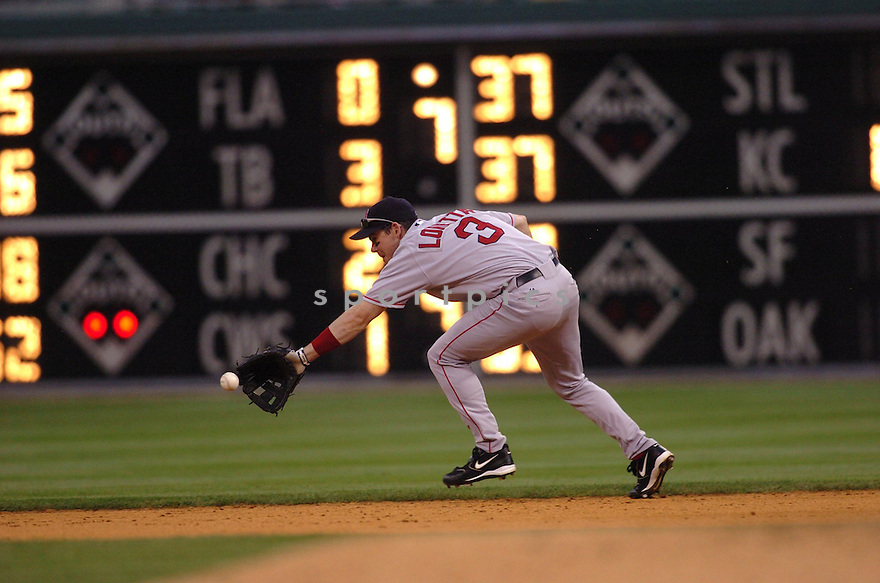 Mark Loretta, of the Boston Red Sox, during thier game against the Philadelphia Phillies  on May 22, 2006 in Philadelphia...Phillies win 10-5..Tomasso DeRosa / SportPics