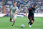 Real Madrid Gareth Bale and A.C. Milan Patrick Cutrone during Santiago Bernabeu Trophy match at Santiago Bernabeu Stadium in Madrid, Spain. August 11, 2018. (ALTERPHOTOS/Borja B.Hojas)