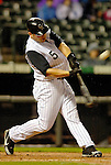 7 September 2006: Matt Holliday, left fielder for the Colorado Rockies, hits a home run in the 3rd inning against the Washington Nationals. The Rockies defeated the Nationals 10-5 in a rain-delayed game at Coors Field in Denver, Colorado. ..Mandatory Photo Credit: Ed Wolfstein..