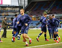 7th March 2020; Turf Moor, Burnley, Lanchashire, England; English Premier League Football, Burnley versus Tottenham Hotspur; Eric Dier of Tottenham Hotspur warming up before the kick off