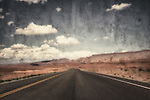 Lonely road in the Arizona desert, Usa