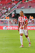 02.08.2015. Cologne, Germany. Pre Season Tournament. Colonial Cup. FC Porto versus Stoke City. Just back from a lengthy lay-off, Stoke's Peter Odemwingie tries to get up to the game speed.