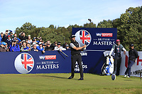 Wade Ormsby (AUS) on the 2nd tee during Round 3 of the Sky Sports British Masters at Walton Heath Golf Club in Tadworth, Surrey, England on Saturday 13th Oct 2018.<br /> Picture:  Thos Caffrey | Golffile
