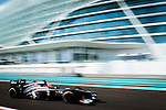 Esteban Gutierrez of Mexico and Sauber F1 Team drives during the Abu Dhabi Formula One Grand Prix 2013 at the Yas Marina Circuit on November 3, 2013 in Abu Dhabi, United Arab Emirates. Photo by Victor Fraile / The Power of Sport Images