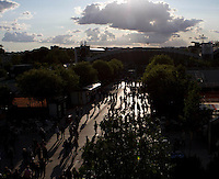 Sunset at the French Open, Roland Garros..Tennis - Grand Slam - French Open - Roland Garros - Paris - Day  10 -  Tue May 31st 2011..© AMN Images, Barry House, 20-22 Worple Road, London, SW19 4DH, UK..+44 208 947 0100.www.amnimages.photoshelter.com.www.advantagemedianetwork.com.