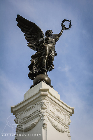 Angel statue in Memorial Park, Port of Spain, Trinidad