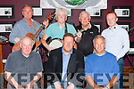 The famous Dublin City Ramblers standing l-r: David Dooley, Sean McGuiness and Freddie O'Connor with local singer Jack Healy at their concert for Recovery Haven in the Travel Inn Fossa on Thursday night front l-r: Mick Myers, Tom Leslie and Gerard Fitzgerald
