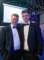 Picture by Allan McKenzie/SWpix.com - 05/10/17 - Cricket - Yorkshire County Cricket Club Gala Dinner 2017 - Elland Road, Leeds, England - Ben Coad with his father.