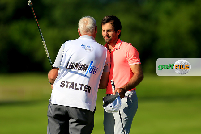 Jo&euml;l Stalter (FRA) during the second round of the Lyoness Open powered by Organic+ played at Diamond Country Club, Atzenbrugg, Austria. 8-11 June 2017.<br /> 09/06/2017.<br /> Picture: Golffile | Phil Inglis<br /> <br /> <br /> All photo usage must carry mandatory copyright credit (&copy; Golffile | Phil Inglis)