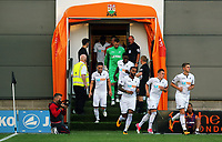 Pictured: Swansea players exit the tunnel. Wednesday 12 July 2017<br /> Re: Pre-season friendly, Barnet v Swansea City FC at The Hive, London, UK