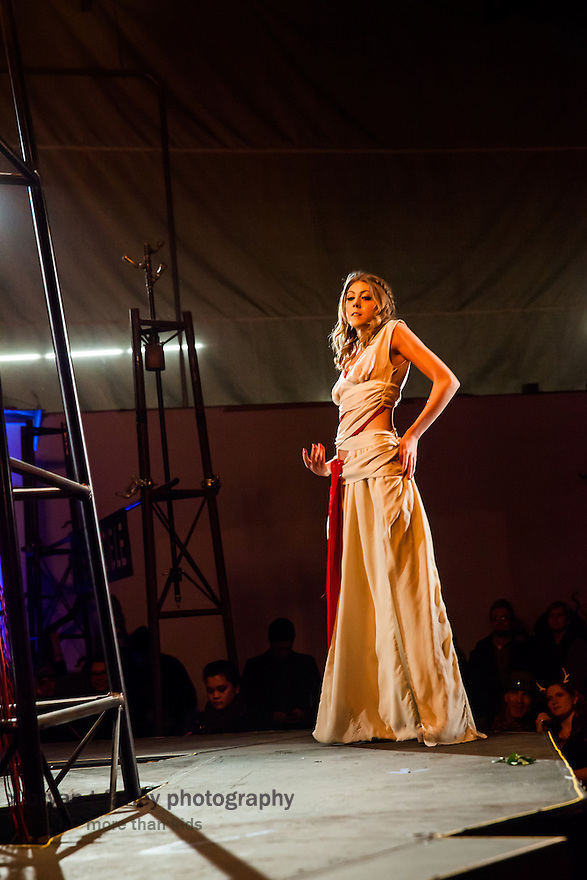 "Bay Area fashion designers present The Crucible's 15th Annual ""Hot Couture 2014: The Fusion of Fashion & Fire"" on Friday, January 10 and Saturday, January 11, 2014. The Crucible is an Oakland, California non-profit art education facility."